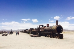 10.Bolívia - cemitério de trens